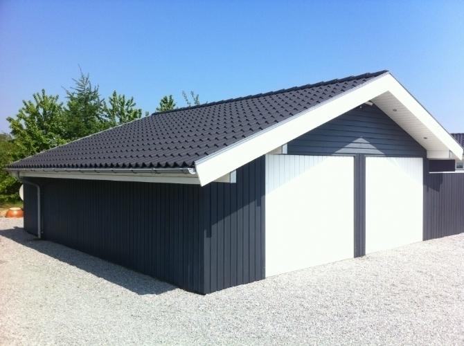 Ny garage carport eller udhus muret i tr eller for Location garage muret